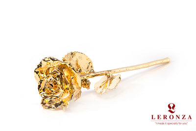 Leronza 24k Gold-Dipped Natural Rose - Leronza