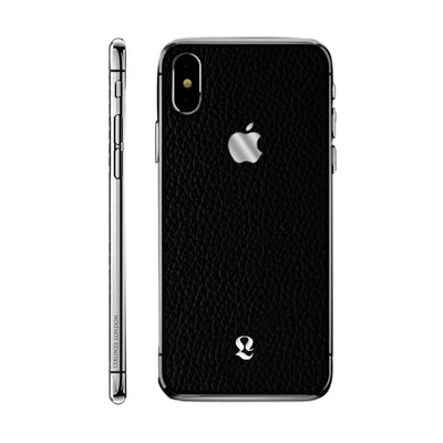 Platinum Exotic Black Calfs Skin iPhone Xs and Xs Max