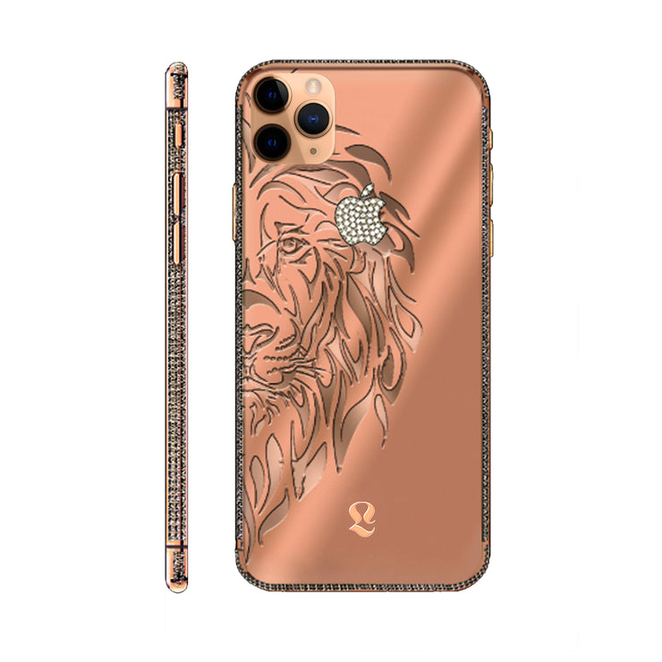 Rose Gold Lion Swarovski Brilliance iPhone 11 Pro and iPhone 11 Pro Max