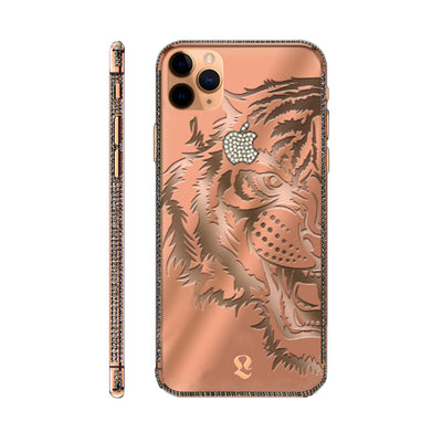 Rose Gold Tiger Swarovski Brilliance iPhone 11 Pro and iPhone 11 Pro Max