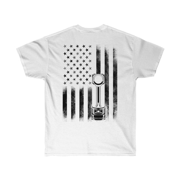 American Flag Piston Tee (Back Design) - 5ohNation