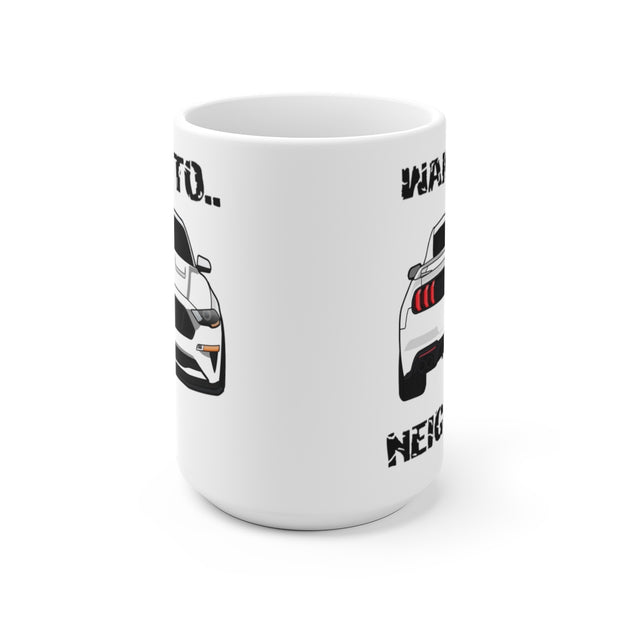 2018-19 Oxford White Wake The Neighbors Mug (Original) - 5ohNation