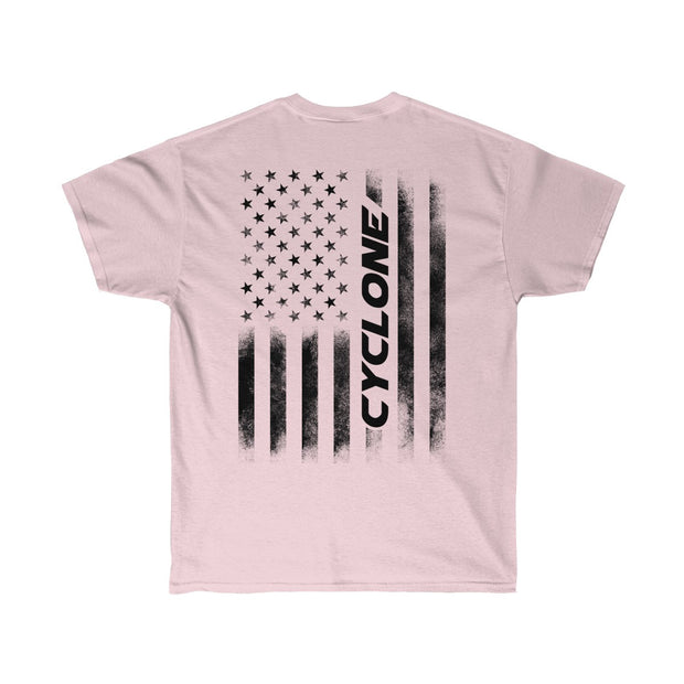 American Flag Cyclone Tee (Black) - 5ohNation