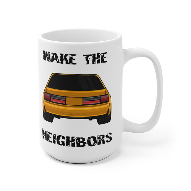87-93 Orange Notchback Wake The Neighbors Mug (Original) - 5ohNation