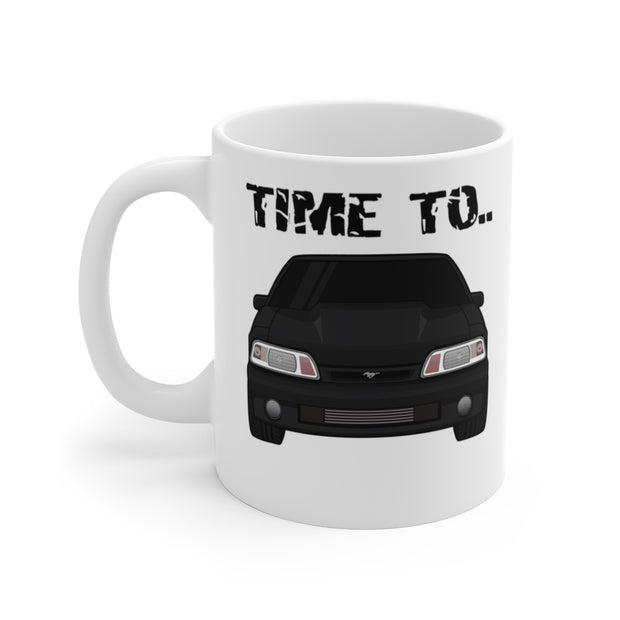 87-93 Black Hatchback Wake The Neighbors Mug (Original) - 5ohNation