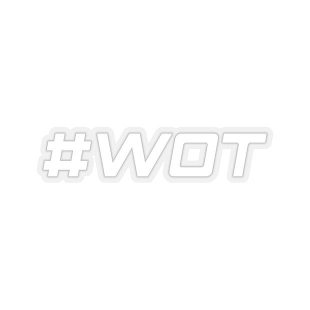 #WOT Decal (White) - 5ohNation