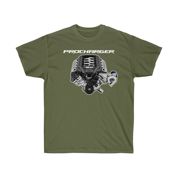 s197 Procharger Engine Tee (Front Design) - 5ohNation