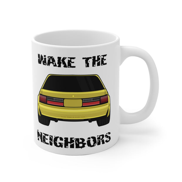 87-93 Yellow Notchback Wake The Neighbors Mug (Original) - 5ohNation
