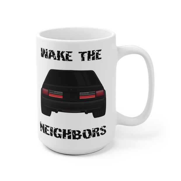 4 Eyed Black Fox Wake The Neighbors Mug (Original) - 5ohNation