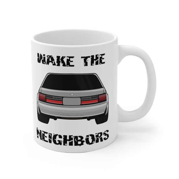 4 Eyed Silver Fox Wake The Neighbors Mug (Original) - 5ohNation