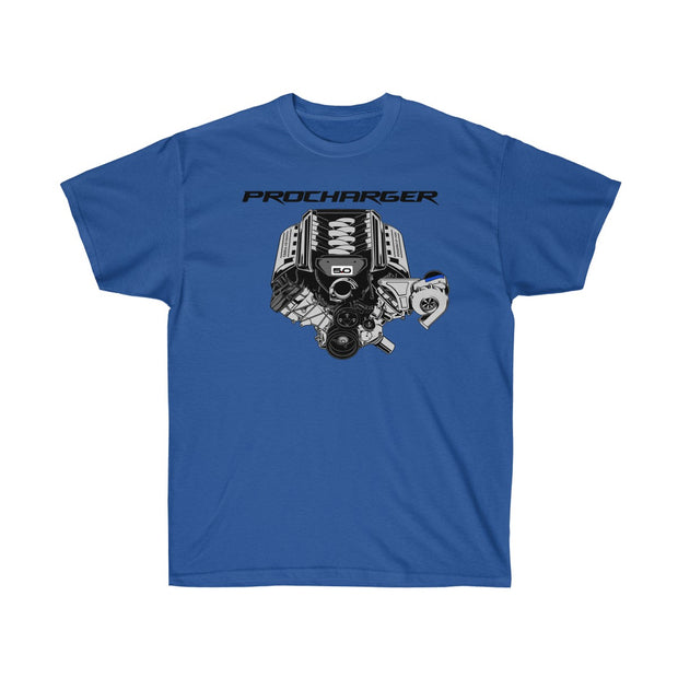 s550 Procharger Engine Tee (Front Design) - 5ohNation
