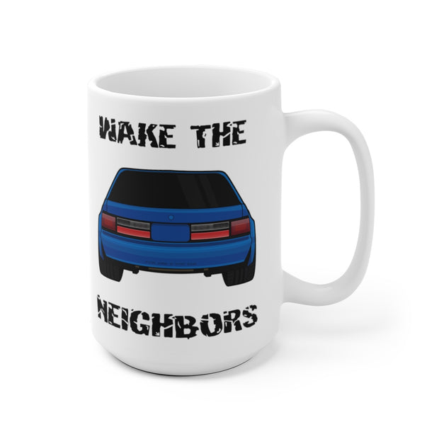 4 Eyed Blue Fox Wake The Neighbors Mug (Original) - 5ohNation