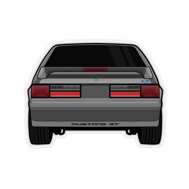 87-93 Gray Hatchback Sticker (Rear) - 5ohNation