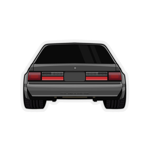 88-93 Notchback Gray Sticker (Rear) - 5ohNation