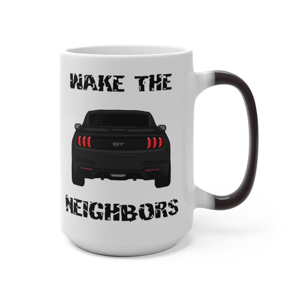2018-19 Shadow Black Wake The Neighbors Mug (Color Changing) - 5ohNation