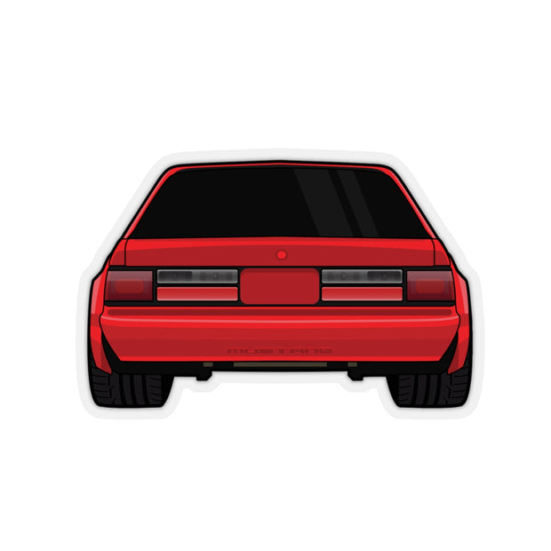 88-93 Notchback Red Sticker (Rear) - 5ohNation