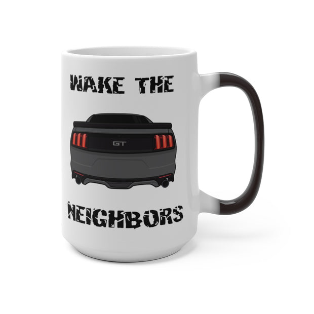 2015-17 Magnetic Metallic Wake The Neighbors Mug (Color Changing) - 5ohNation
