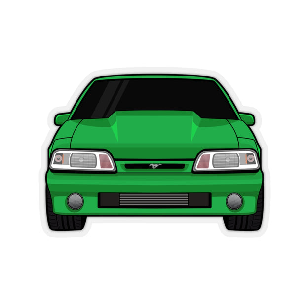 87-93 Foxbody Green Sticker (Front) - 5ohNation