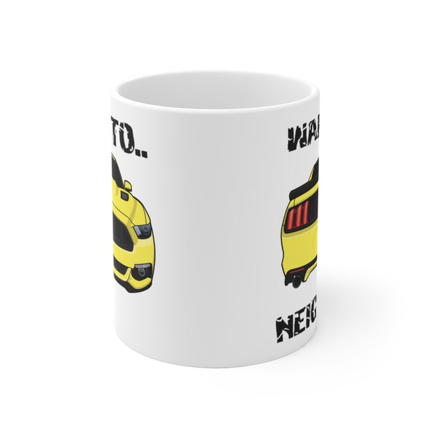 2015-17 Triple Yellow Wake The Neighbors Mug (Original) - 5ohNation