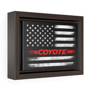 American Flag Coyote Premium Gallery Wrap Canvas (Red) - 5ohNation