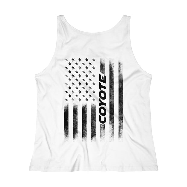 American Flag Coyote Tank Top (Black) - 5ohNation