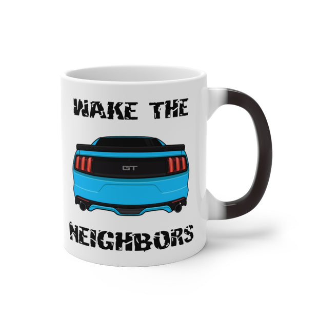 2015-17 Grabber Blue Wake The Neighbors Mug (Color Changing) - 5ohNation