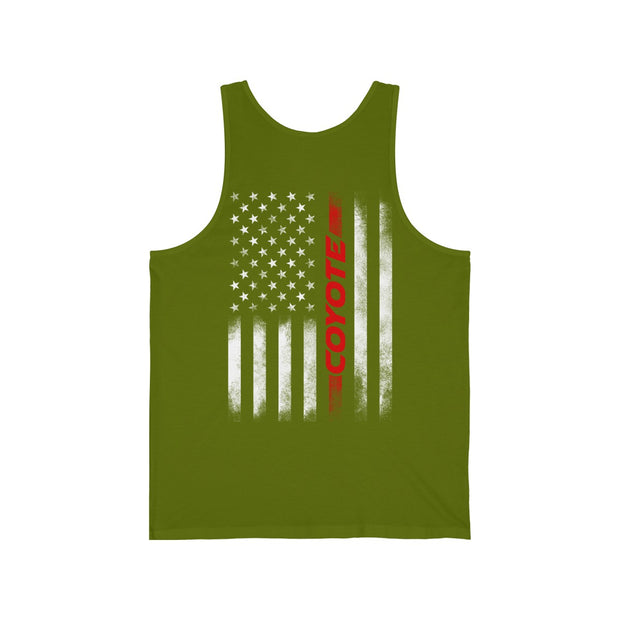 American Flag Coyote Tank Top - 5ohNation
