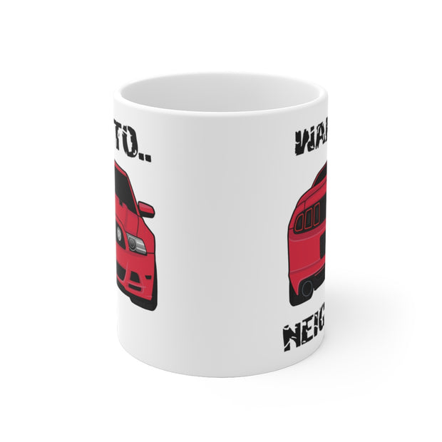 Wake The Neighbors Ruby Red Mug (Original) - 5ohNation