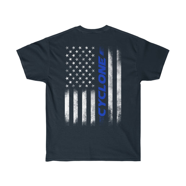 American Flag Cyclone Tee (Blue) - 5ohNation