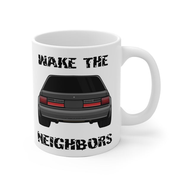 87-93 Gray Notchback Wake The Neighbors Mug (Original) - 5ohNation