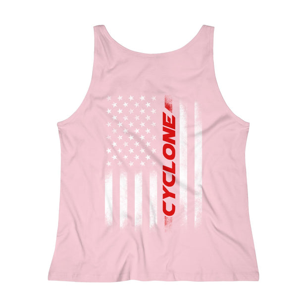 American Flag Cyclone Tank Top (Red) - 5ohNation