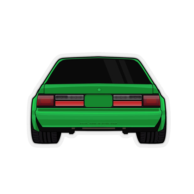 88-93 Notchback Green Sticker (Rear) - 5ohNation
