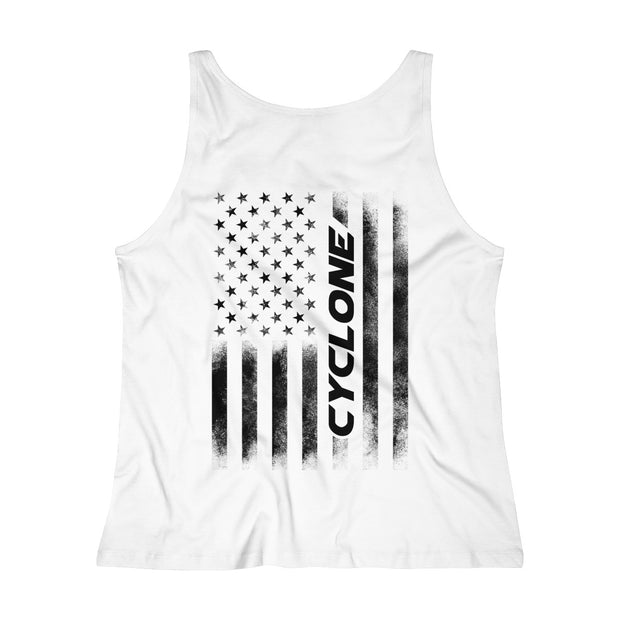 American Flag Cyclone Tank Top (Black) - 5ohNation