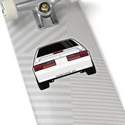 87-93 White Hatchback Sticker (Rear) - 5ohNation