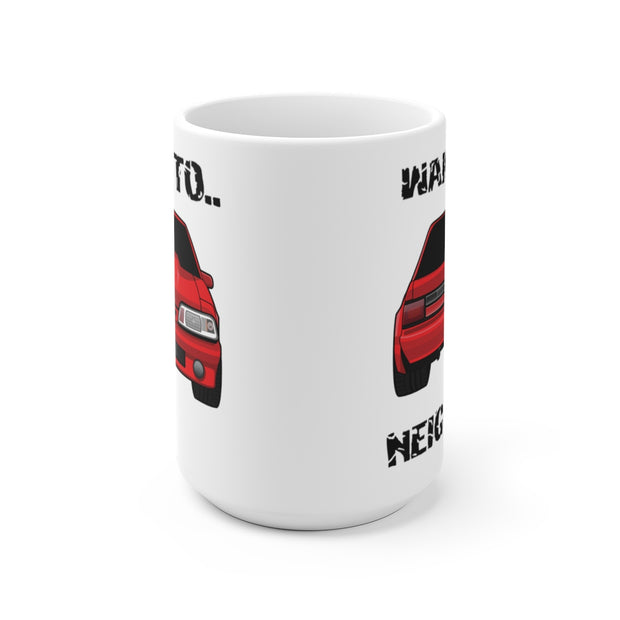 87-93 Red Notchback Wake The Neighbors Mug (Original) - 5ohNation