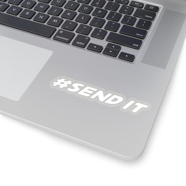 #SEND IT Decal (White) - 5ohNation