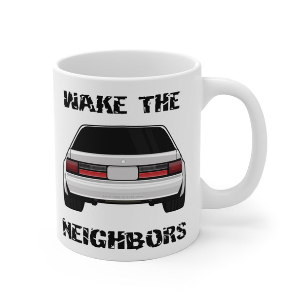 4 Eyed White Fox Wake The Neighbors Mug (Original) - 5ohNation
