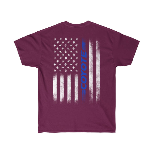 American Flag Coyote Tee (Blue) - 5ohNation