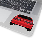 87-93 Red Hatchback Sticker (Rear) - 5ohNation