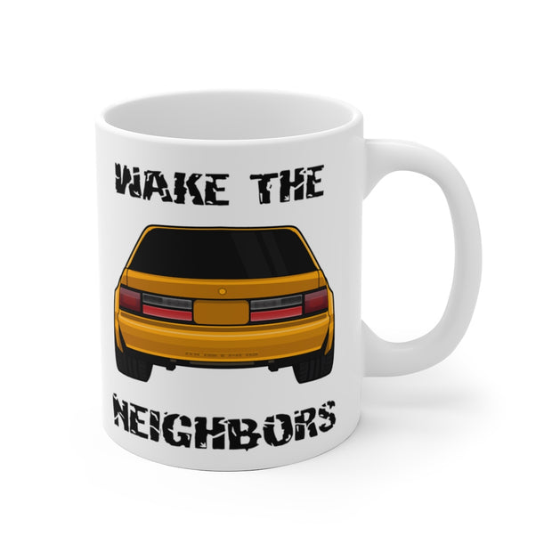 4 Eyed Orange Fox Wake The Neighbors Mug (Original) - 5ohNation