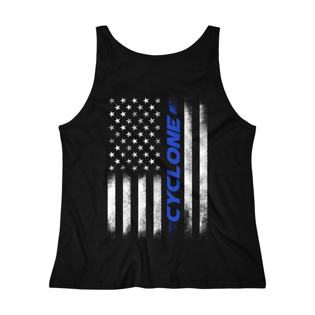 American Flag Cyclone Tank Top (Blue) - 5ohNation
