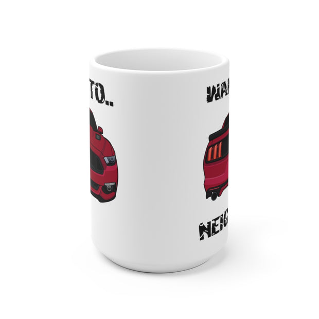 2015-17 Ruby Red Wake The Neighbors Mug (Original) - 5ohNation