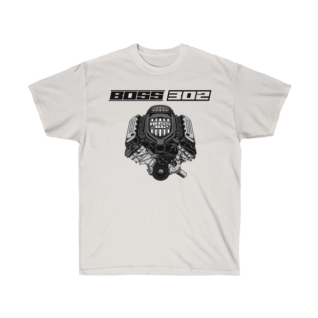 Boss 302 Engine Tee (Front Design) - 5ohNation