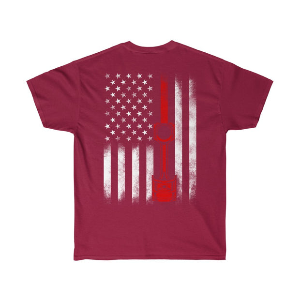 4.6 American Flag Piston Tee (Red) - 5ohNation