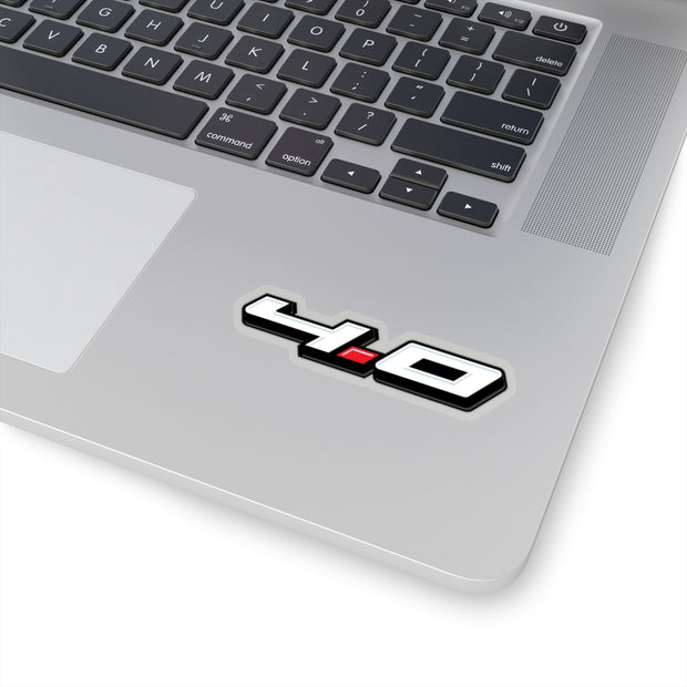 4.0 Sticker 3D (White) - 5ohNation