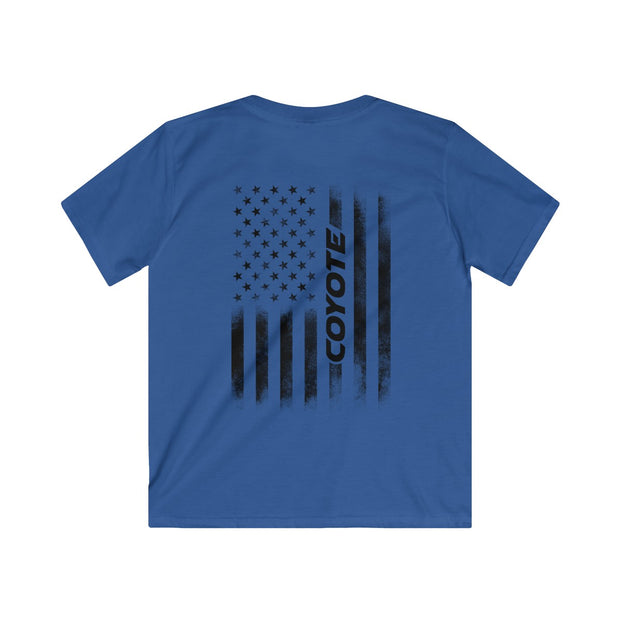 American Flag Coyote Youth Tee (Back Design) - 5ohNation
