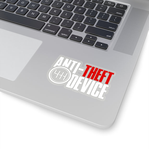 Anti-Theft Device Decal (White/Red) - 5ohNation