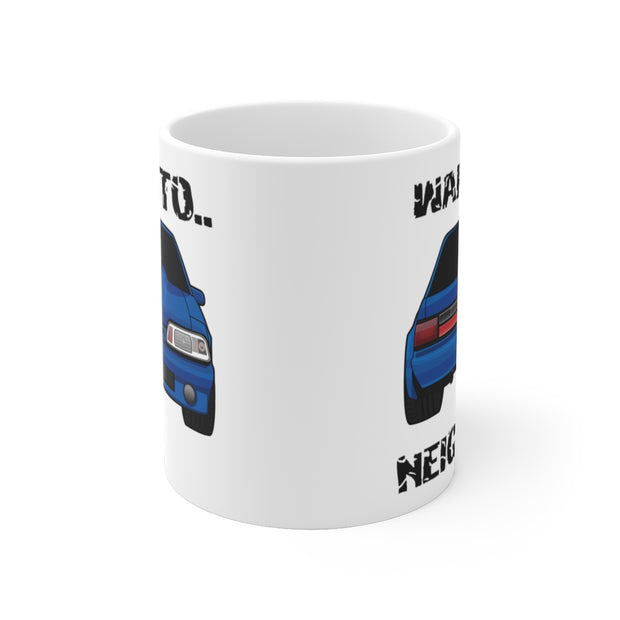 87-93 Blue Notchback Wake The Neighbors Mug (Original) - 5ohNation
