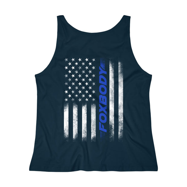 American Flag Foxbody Tank Top (Blue) - 5ohNation