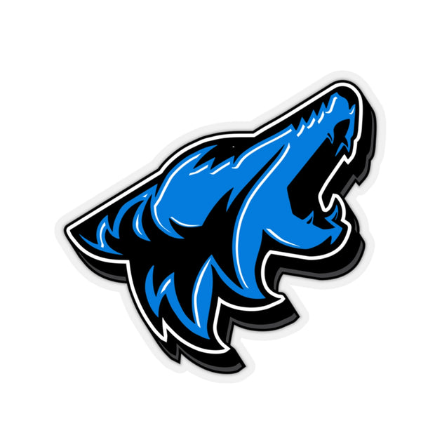 Velocity Blue Coyote Sticker 3D - 5ohNation